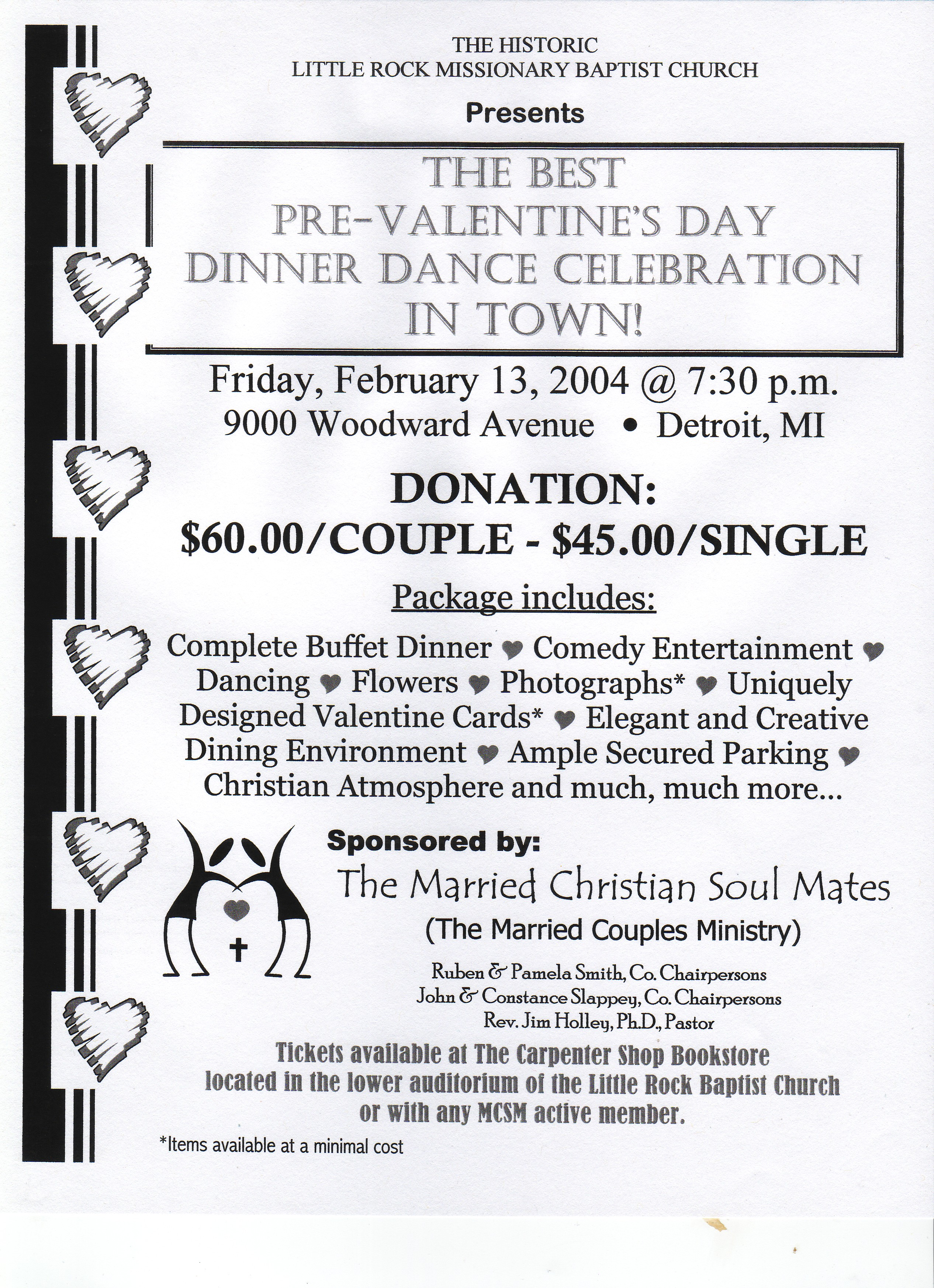 Detroit Black Churches Pre Valentine S Day Dinner Dance