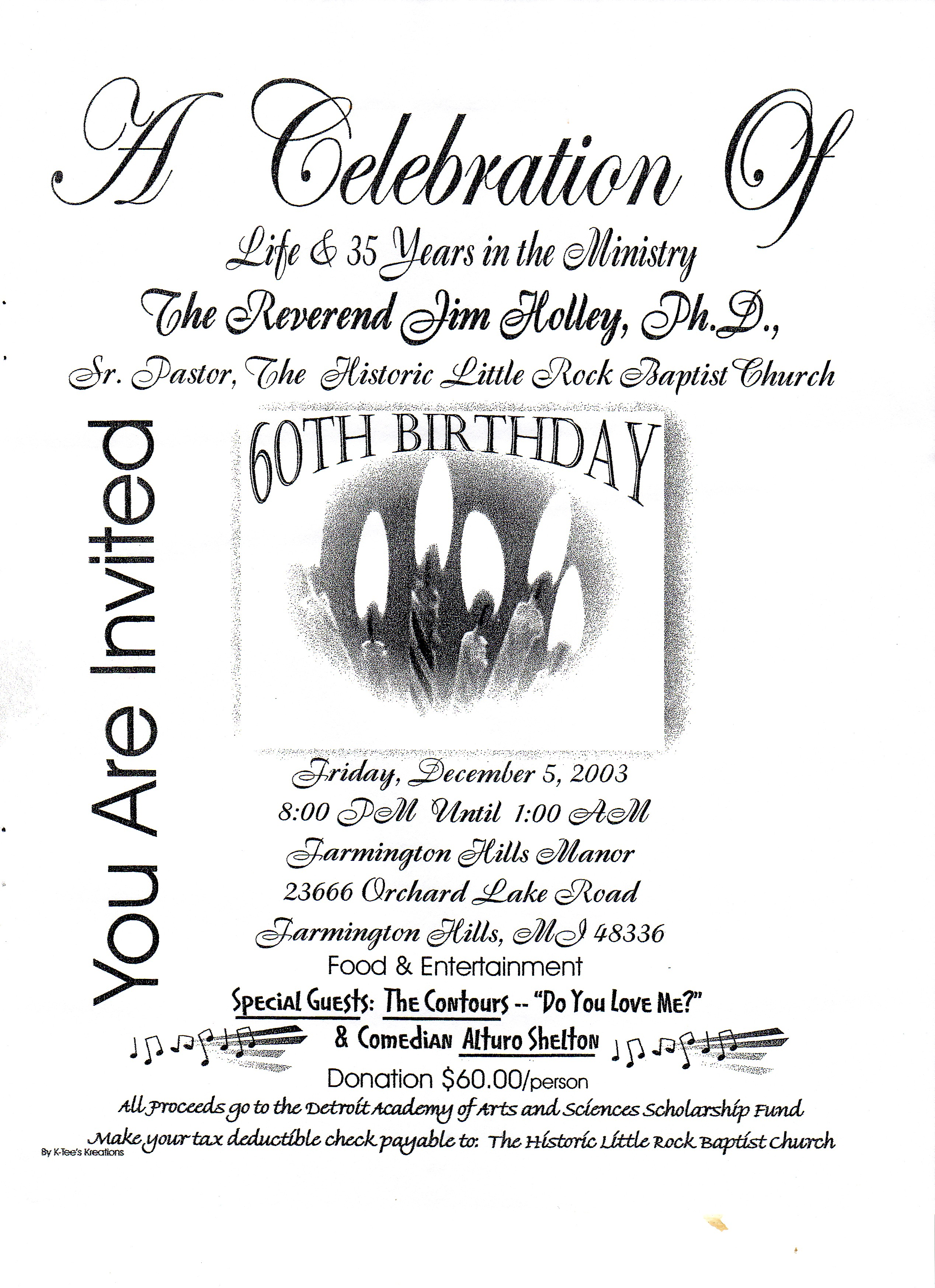 Sample Formal Birthday Party Programs http://detroitchurches.history.msu.edu/Object/A-42-150/pastors-60th-birday/