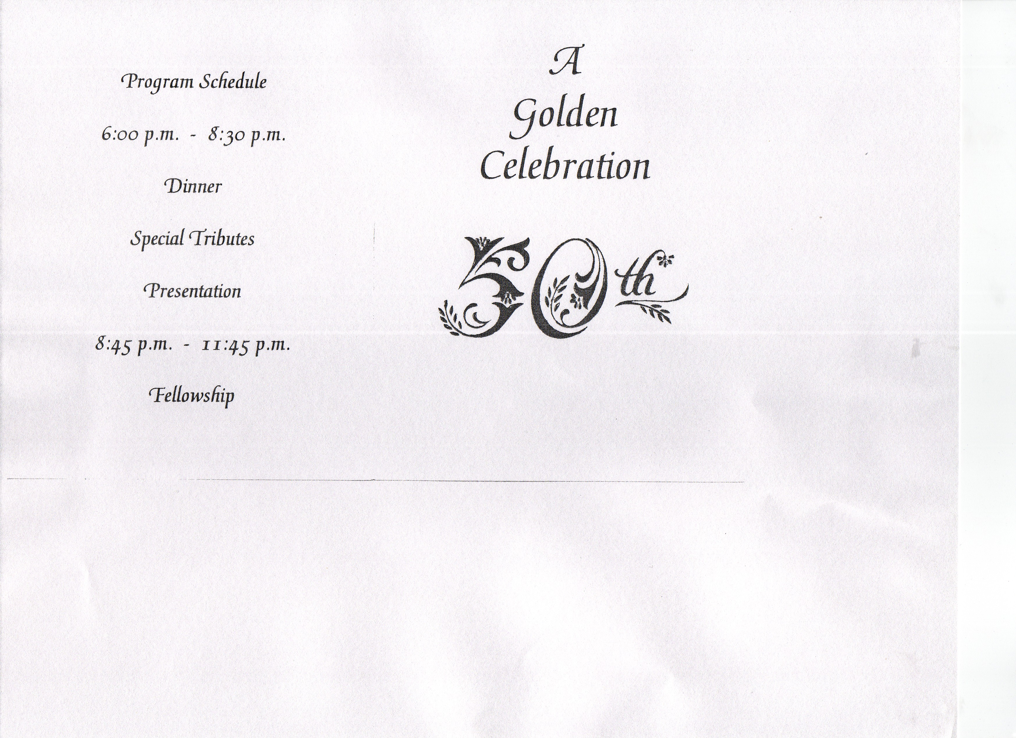 Rev. James Holley 50th Birthday Celebration Program