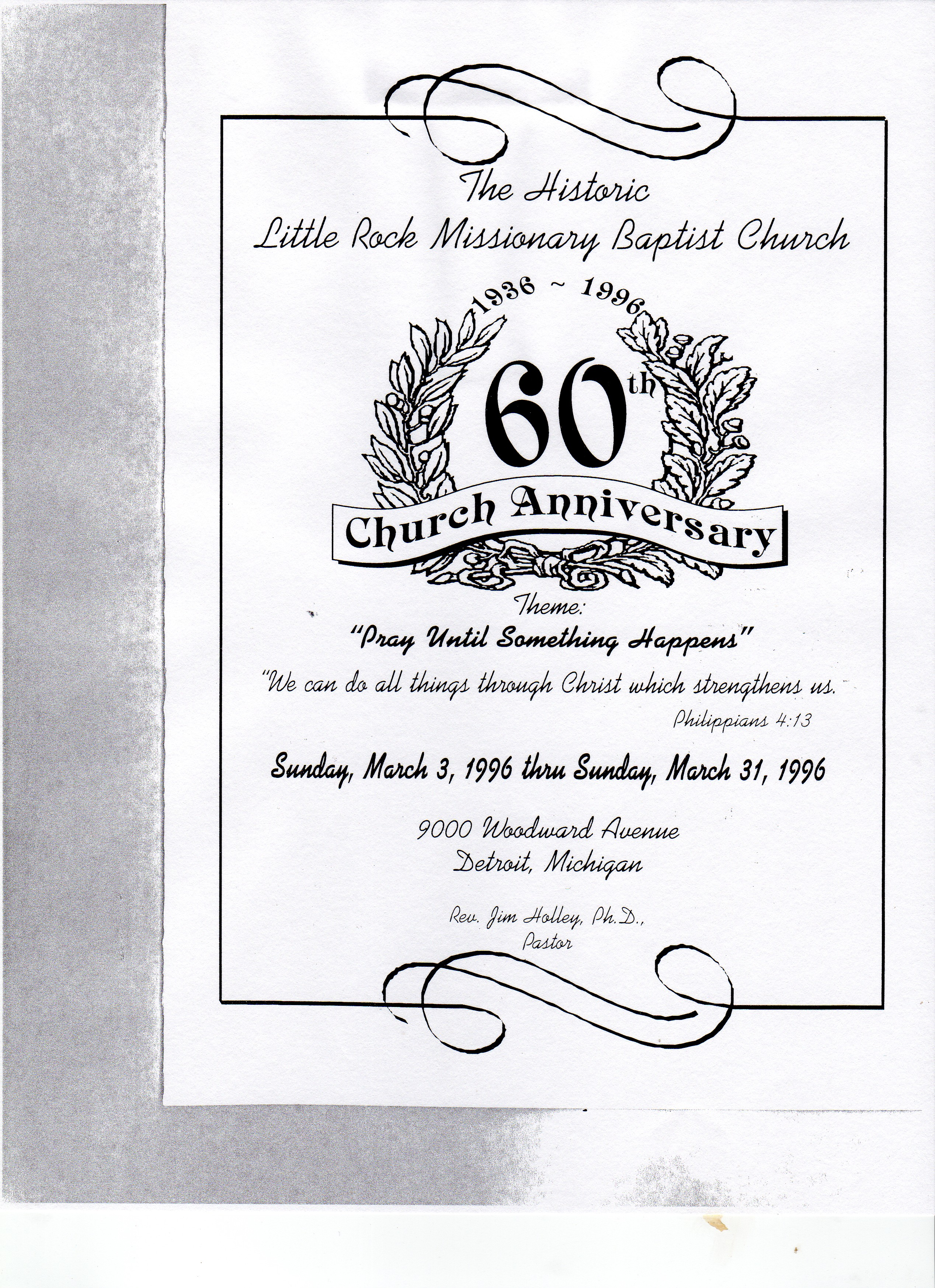 Church Anniversary Program