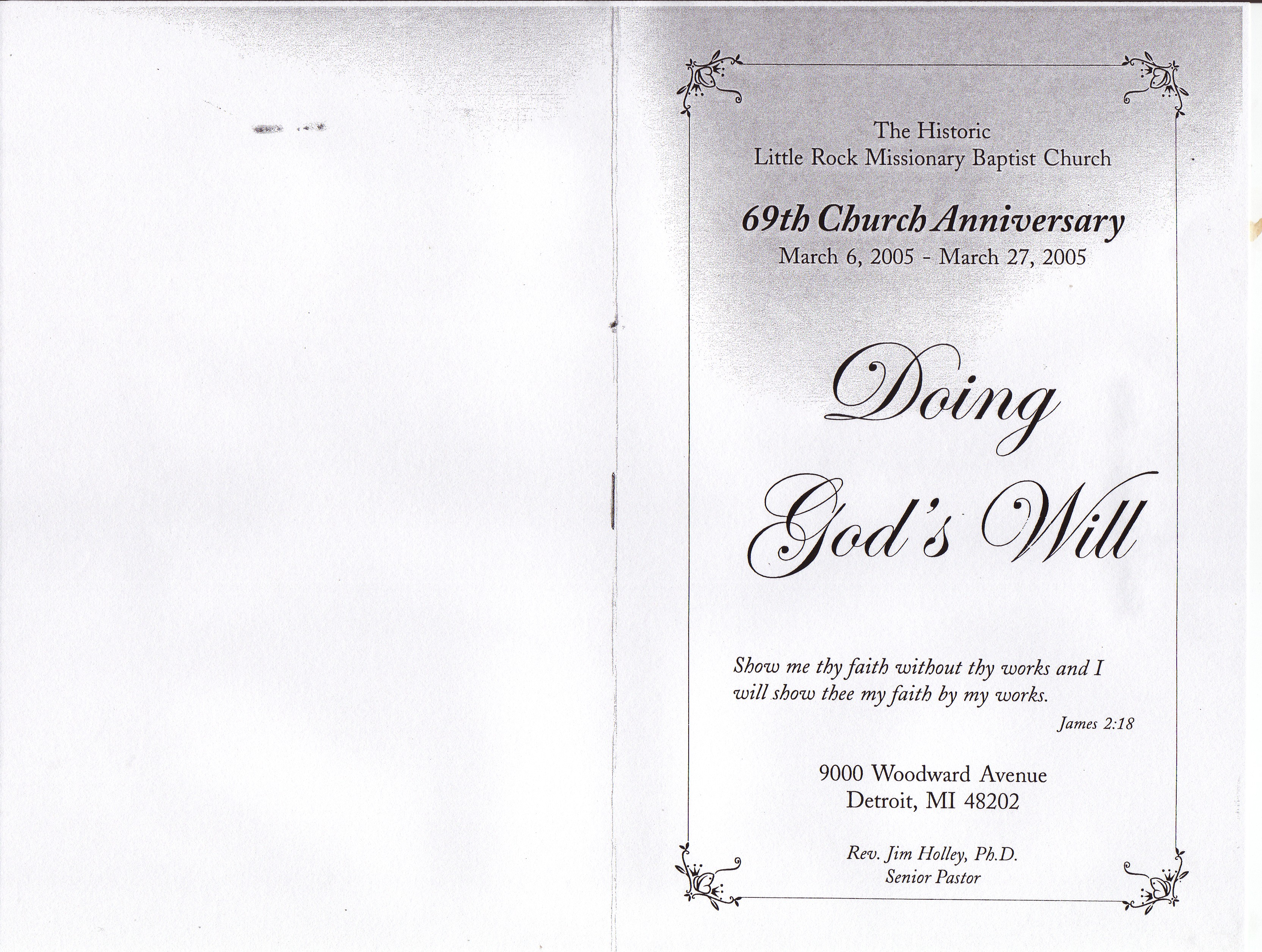 Pastor Appreciation Themes And Scriptures Anniversary church program