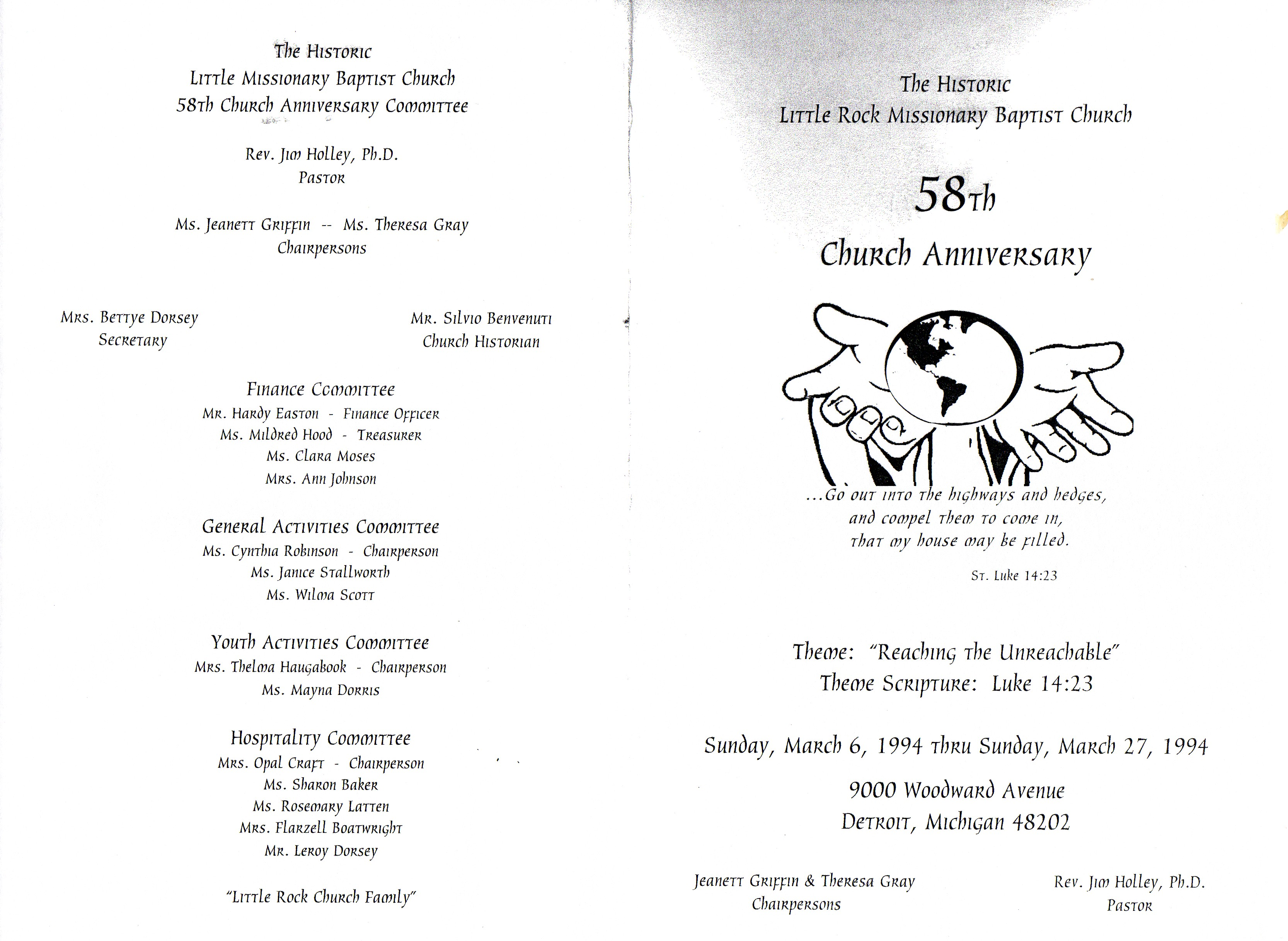Baptist Church Anniversary Program