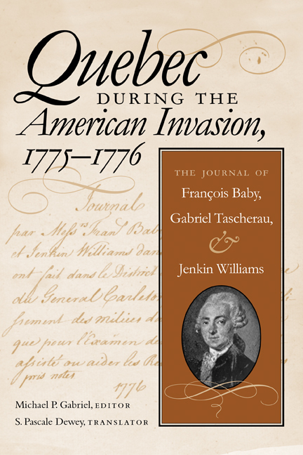Quebec During the American Invasion, 1775-1776 cover