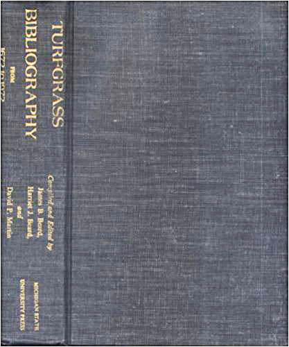 Turfgrass Bibliography from 1672 to 1972 cover
