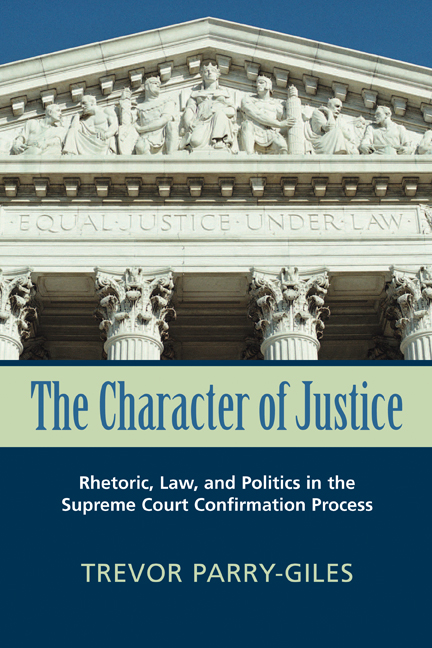 The Character of Justice cover