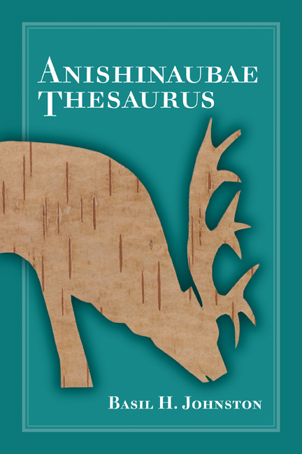 Anishinaubae Thesaurus cover