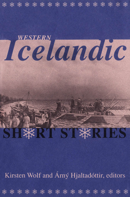 Western Icelandic Short Stories cover