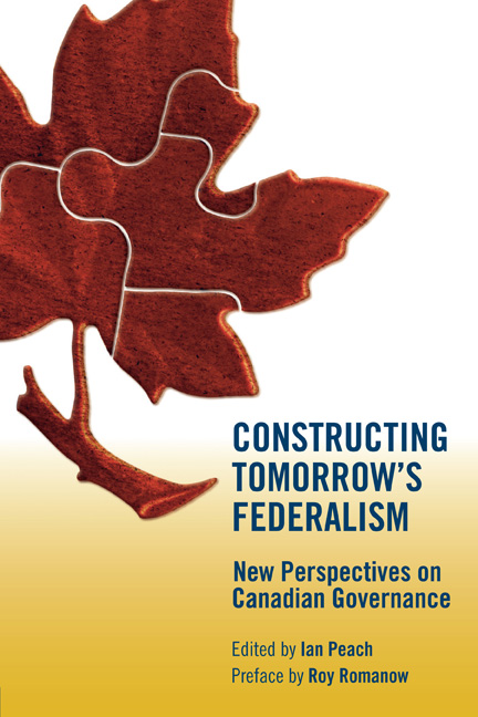 Constructing Tomorrow's Federalism cover