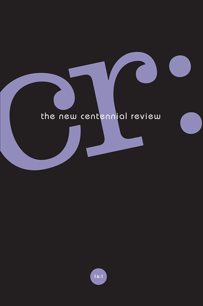 CR: The New Centennial Review 16, no. 1 cover