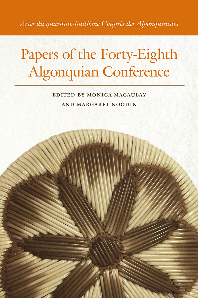 Papers of the Forty-Eighth Algonquian Conference cover