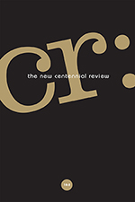 CR: The New Centennial Review 18, no. 2 cover