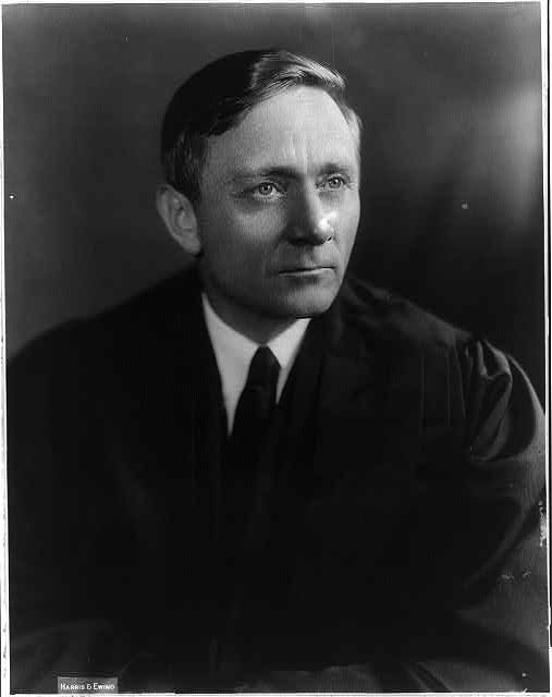 Portrait of William O. Douglas facing right