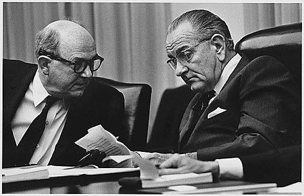 Advisors: Secretary of State Dean Rusk and President Lyndon B. Johnson