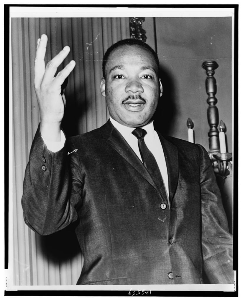 Dr. Martin Luther King, Jr., half-length portrait, facing front