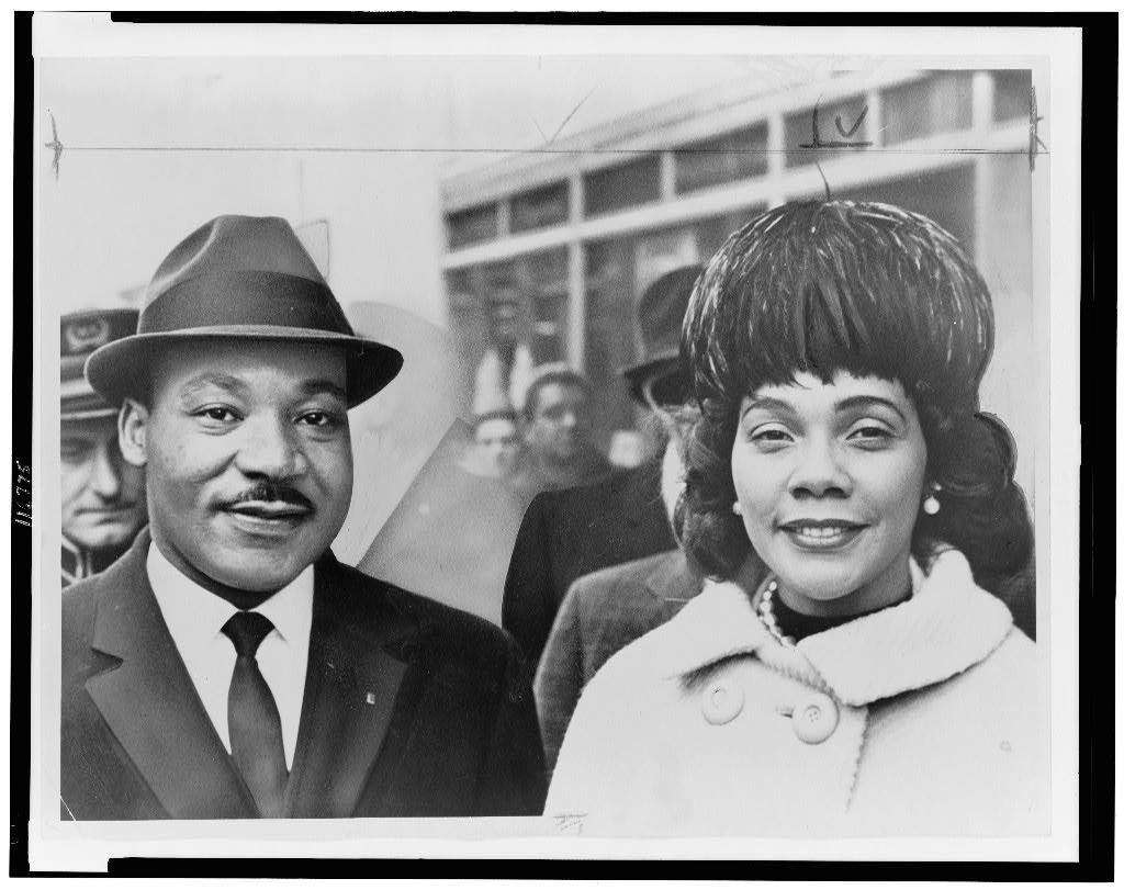 Dr. & Mrs. Martin Luther King, Jr., head-and-shoulders portrait, facing front