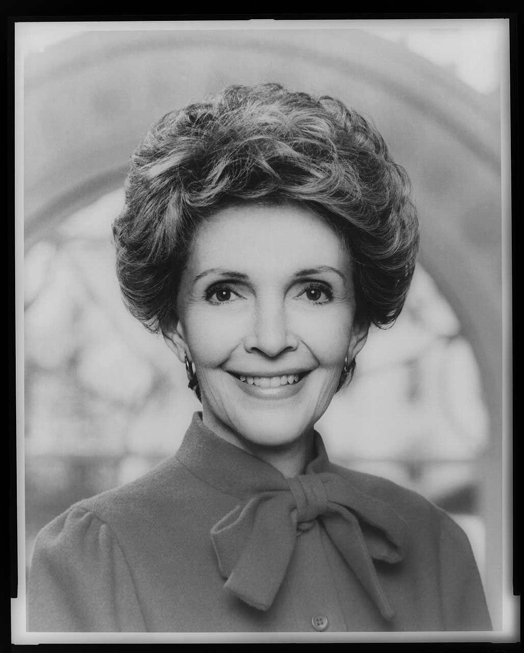 Nancy Reagan, head-and-shoulders portrait, facing front