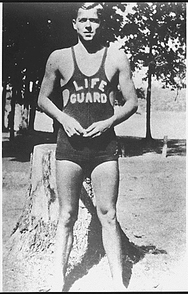 Photograph of Ronald Reagan as a lifeguard, Lowell Park, Illinois