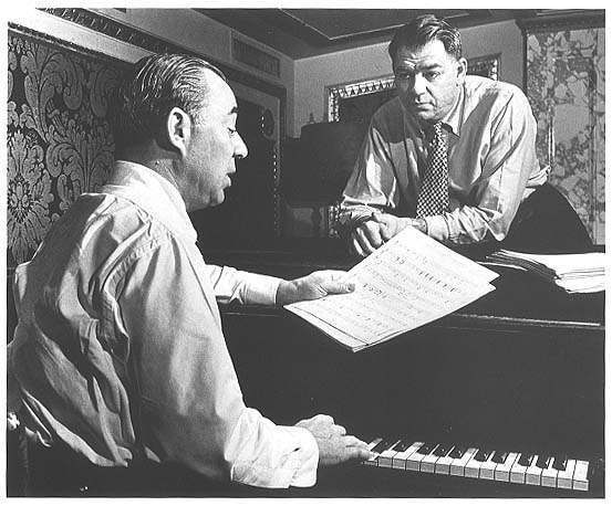Richard Rodgers (seated at piano) and Oscar Hammerstein II
