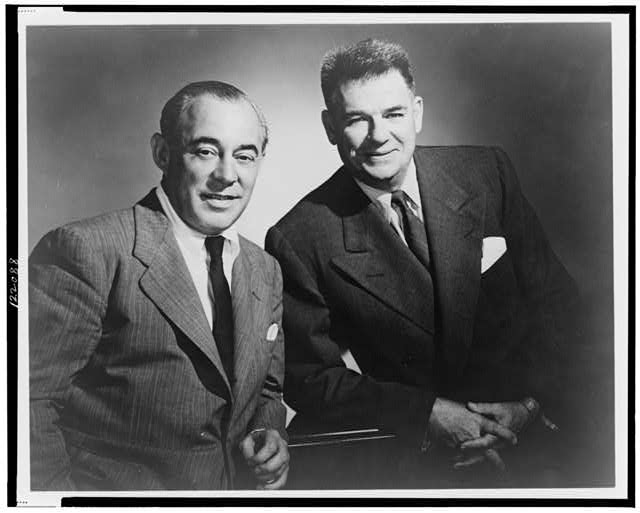 Richard Rodgers and Oscar Hammerstein II, half-length portrait, standing, facing front