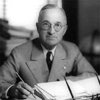 Harry Truman Announces a